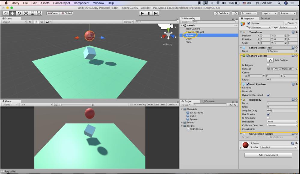 UNITY TUTORIAL | PHYSICS | 3D Physics | Collider – L'atelier d'Hyobin