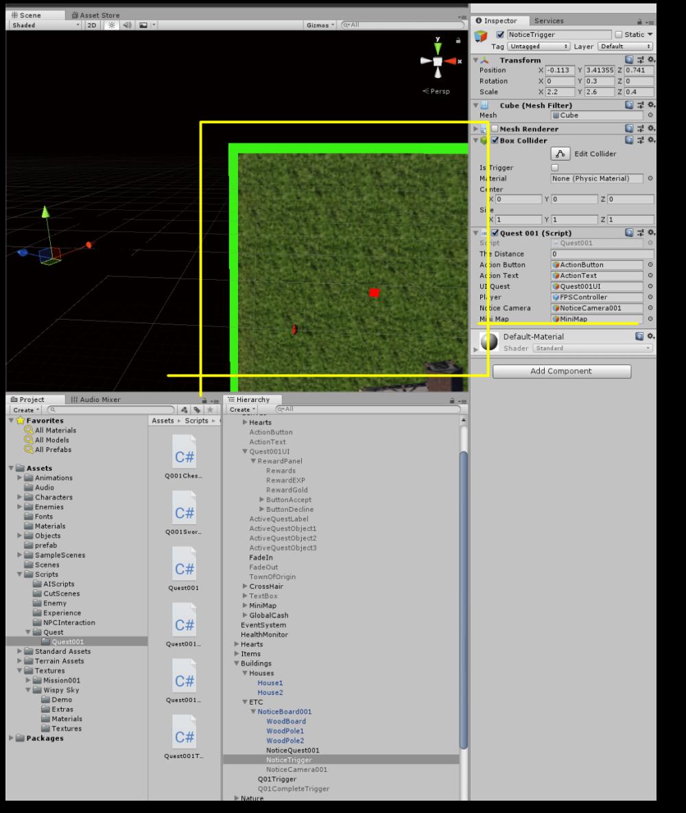 UNITY   Project   RPG Tutorial   18  MiniMap Debugging, NPC